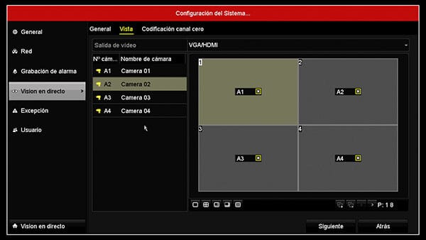 DVR Hikvision layout 2x2 OK