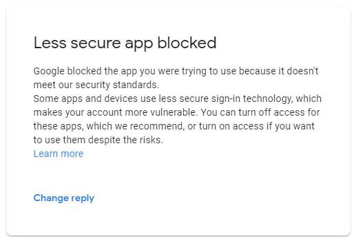 Google security check block