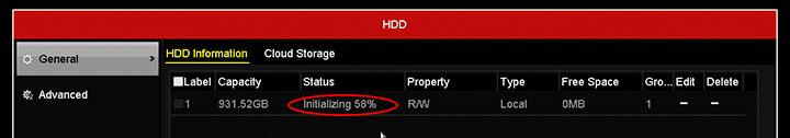 Hikvision DVR Formatting HDD