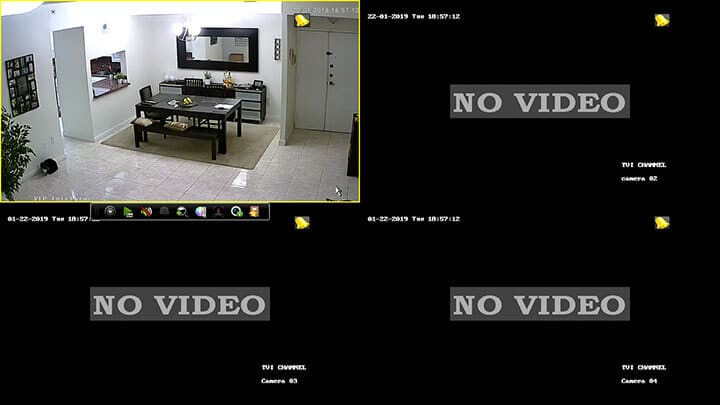 Hikvision DVR Main Screen
