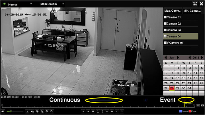 Hikvision DVR Playback Continuous and Motion