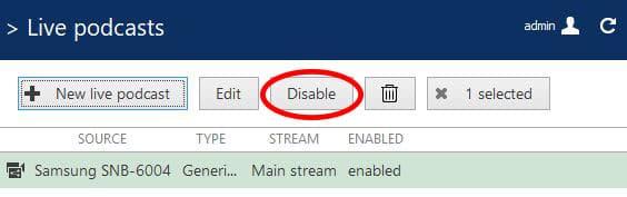 Luxriot EVO Disable Live Stream