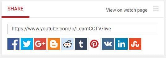 Comparte su canal de YouTube