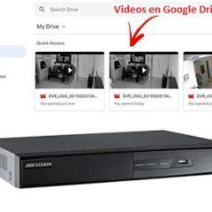 DVR Hikvision Grabación en Google Drive