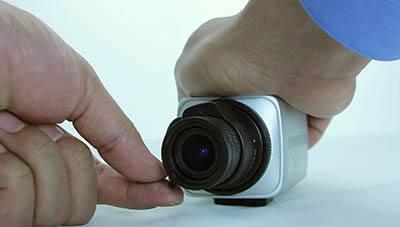 Ajustando lente da câmera