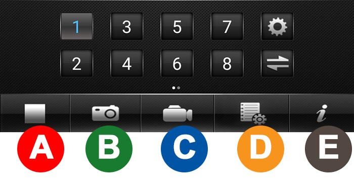 App MEye botones