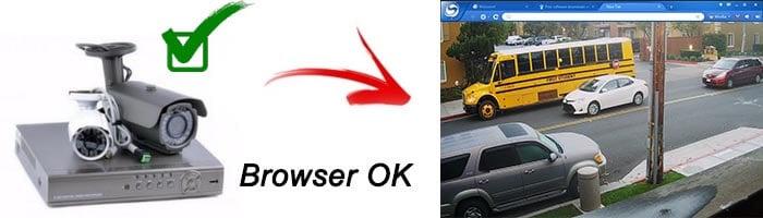 Browser para prueba del DVR