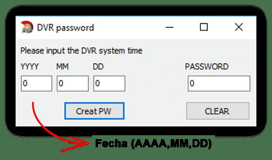 Generador de contraseña DVR Dahua