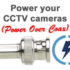 Almentación de cámaras de CCTV por PoC (Power Over Coax)