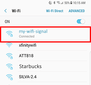 Mobile WiFi connection