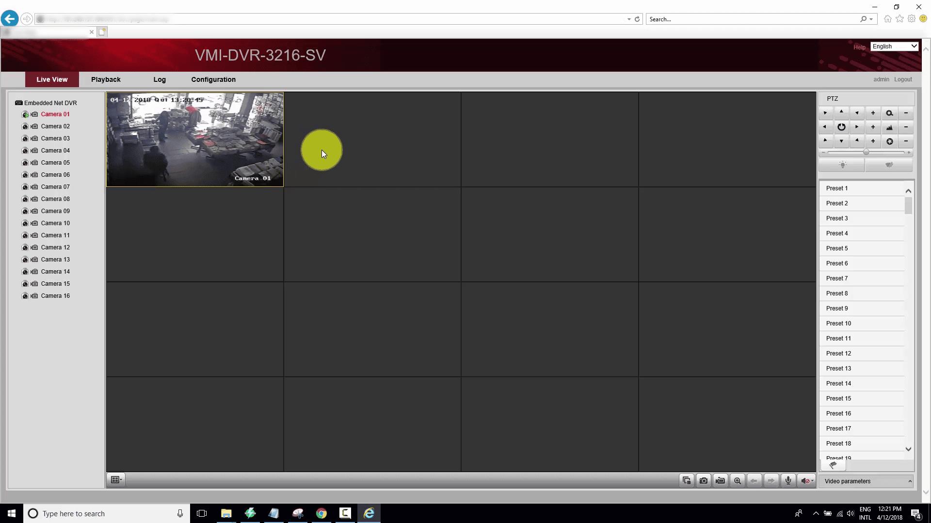 DVR de Hikvision hackeado