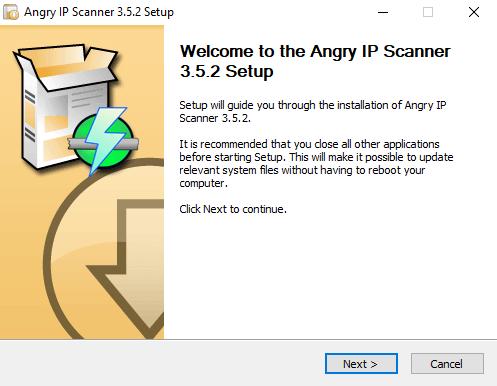 Instalación del Angry IP scanner 1
