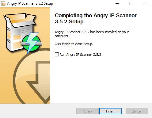 Instalación del Angry IP scanner 3