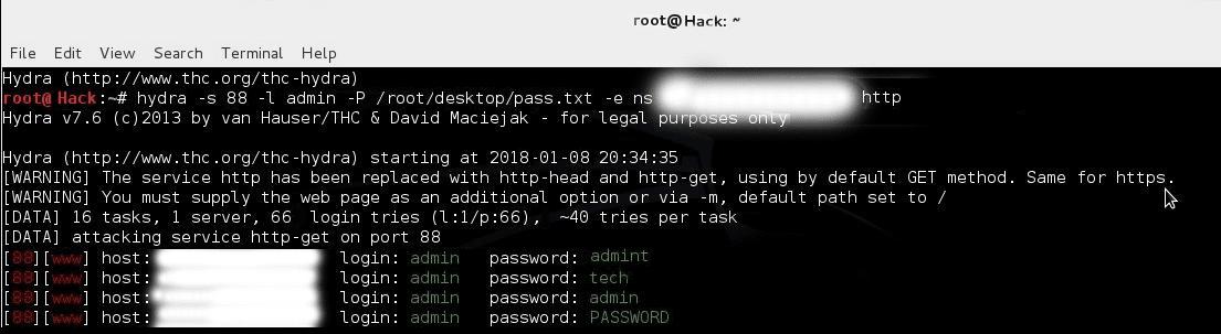 usando Hydra para hackear cámaras de seguridad