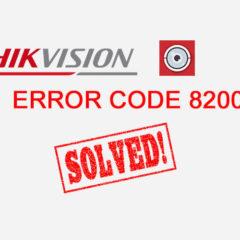 Error 8200 Solución
