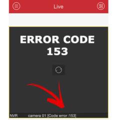 Hikvision error code 153 (solución)