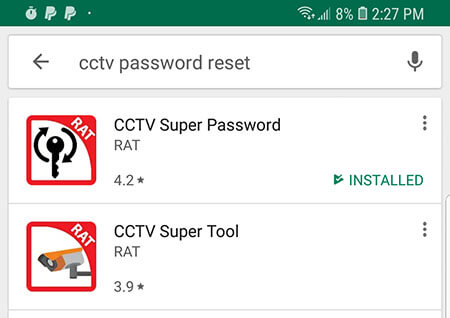 CCTV Super Password Reset