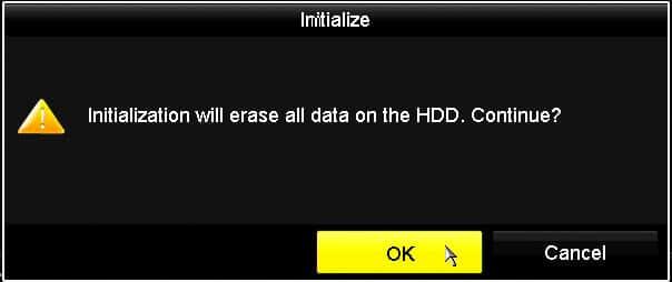 Hikvision DVR Format HDD