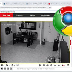 Hikvision con el Google Chrome