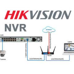 NVR Hikvision con cámaras IPs