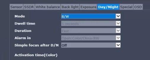 Cámara IP cpn ICR y función día/noche