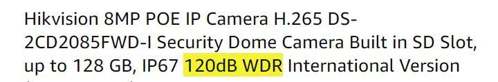 Cámara de seguridad con WDR