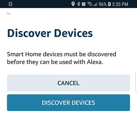 Alexa buscando dispositivos