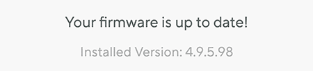 Firmware actualizado