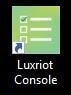 la consola Luxriot