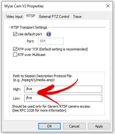 RTSP para Wyze Cam