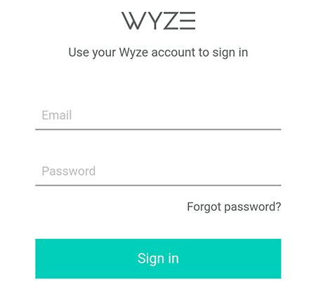 Autenticación de Wyze Cam