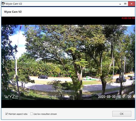 Wyze Cam en vivo em VLC
