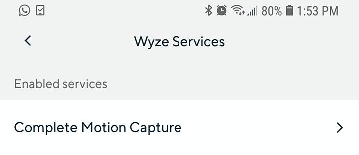 "Haga clic en ""Complete Motion Capture"""