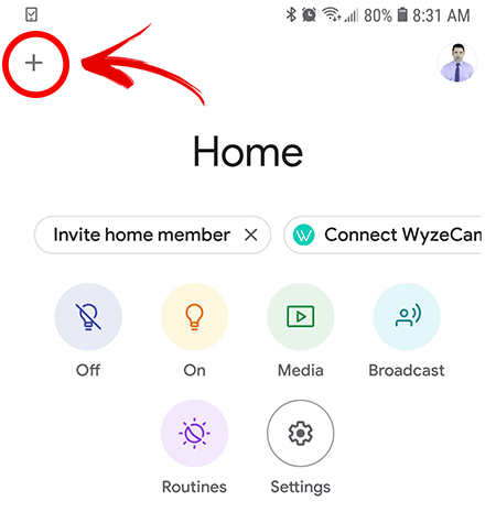 Wyze Cam on Chromecast Add Device
