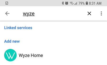 Haga clic para vincular la cuenta de Wyze.