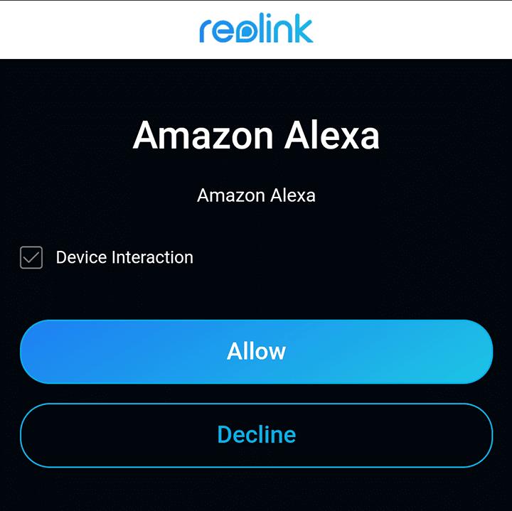 Permitir la interacción con Alexa