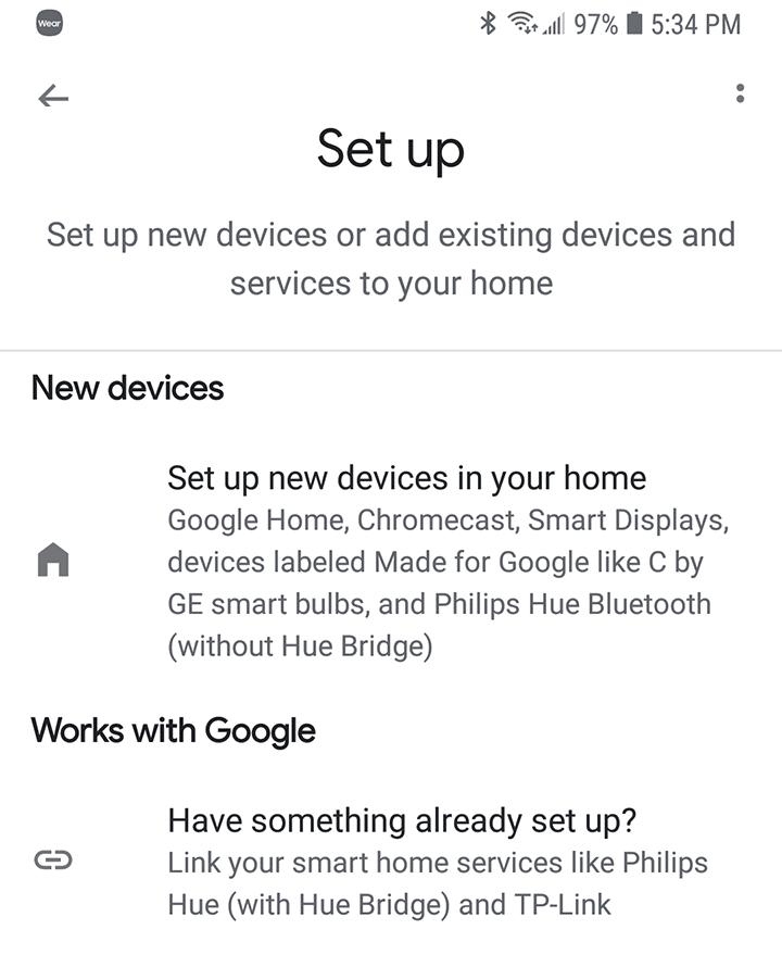 Google Home Añadir Dispositivo