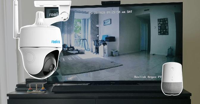 Reolink Argus PT conectado a Google Home