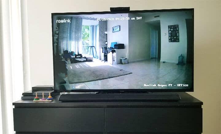 Reolink Argus PT en mi TV