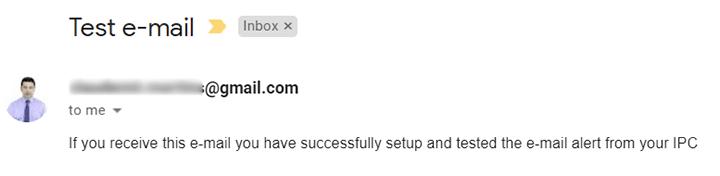 Prueba de correo electrónico de Reolink