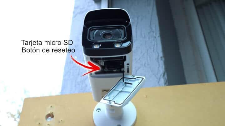 Cámara Amcrest Bullet - Tarjeta Micro SD