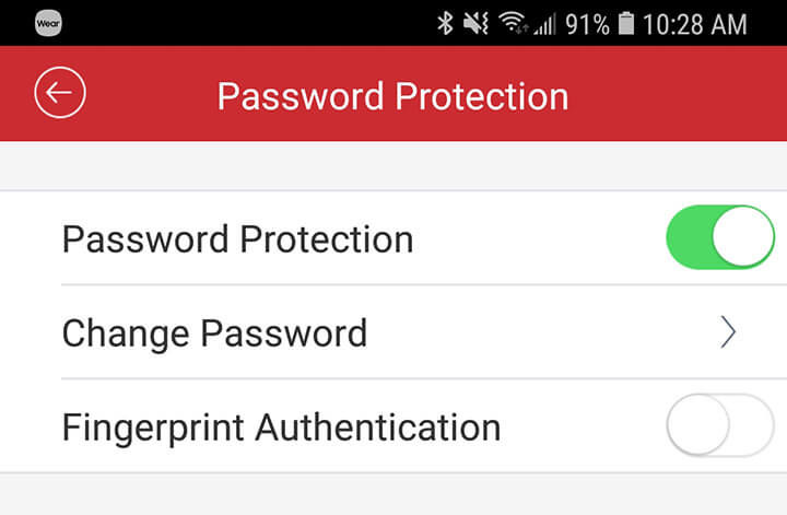 Enable Password Protection