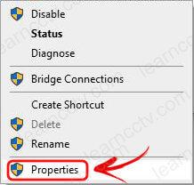 Ethernet interface properties