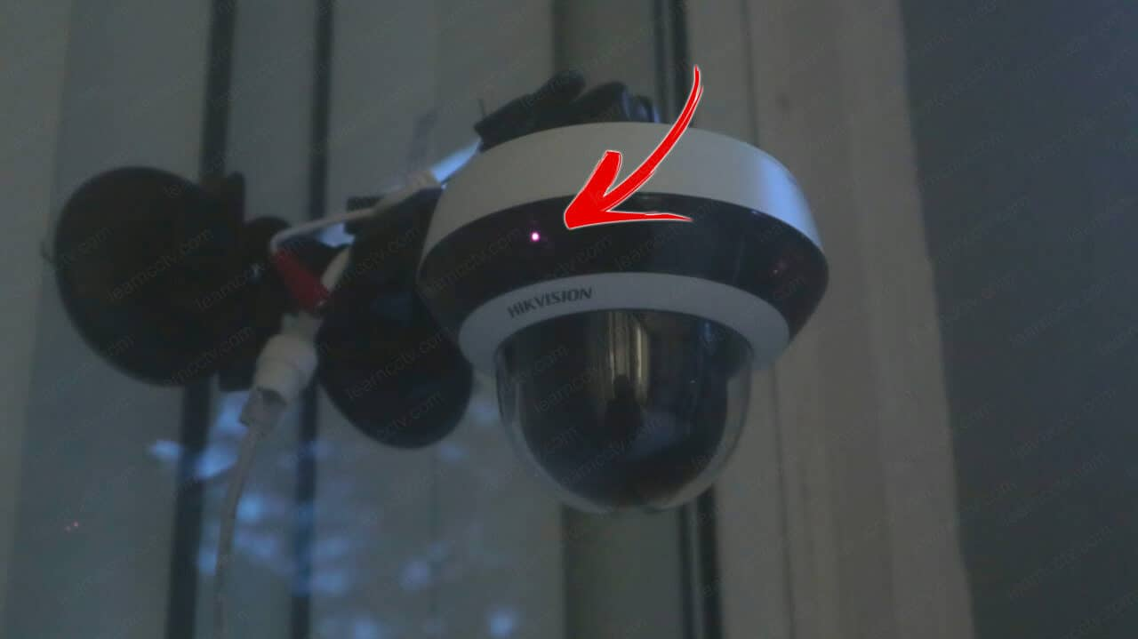 IR lights can determine if a security camera is fake