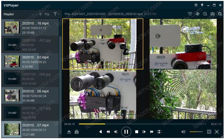Hikvision VSPlayer Multiple videos
