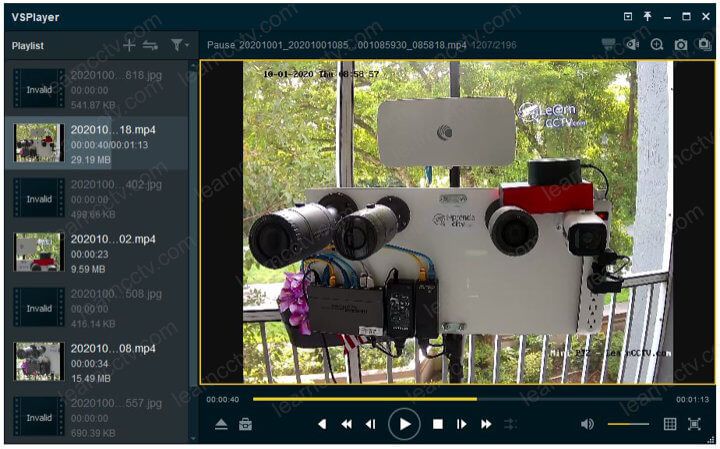 Hikvision VSPlayer plays the mp4 file