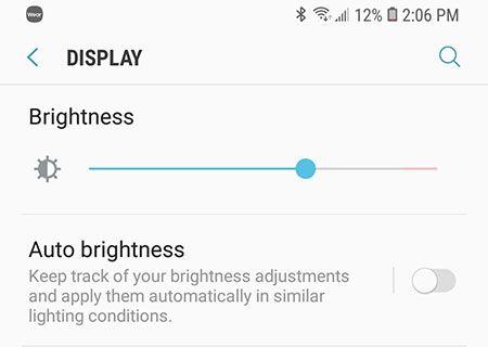 Mobile phone display brightness