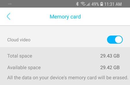 Información del SD card