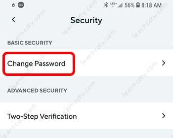 Wyze Cam Change Password