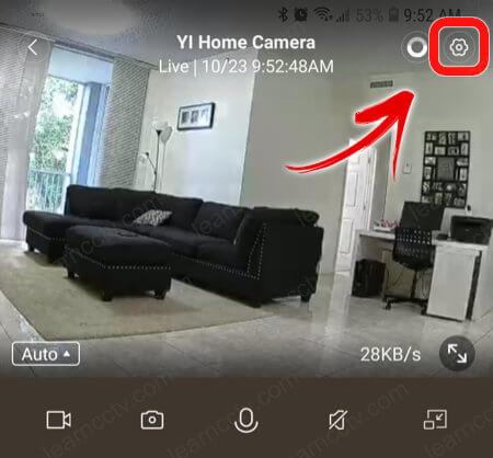 YI Home App Settings
